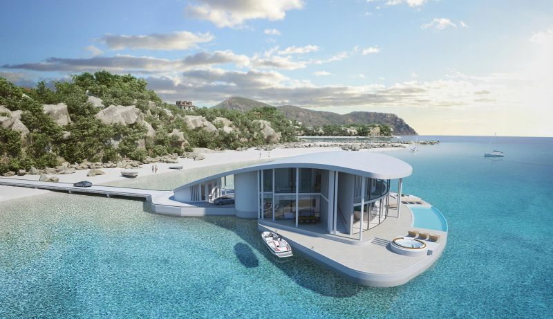 This luxury floating home by Tangram 3Ds looks just like a Stingray_3