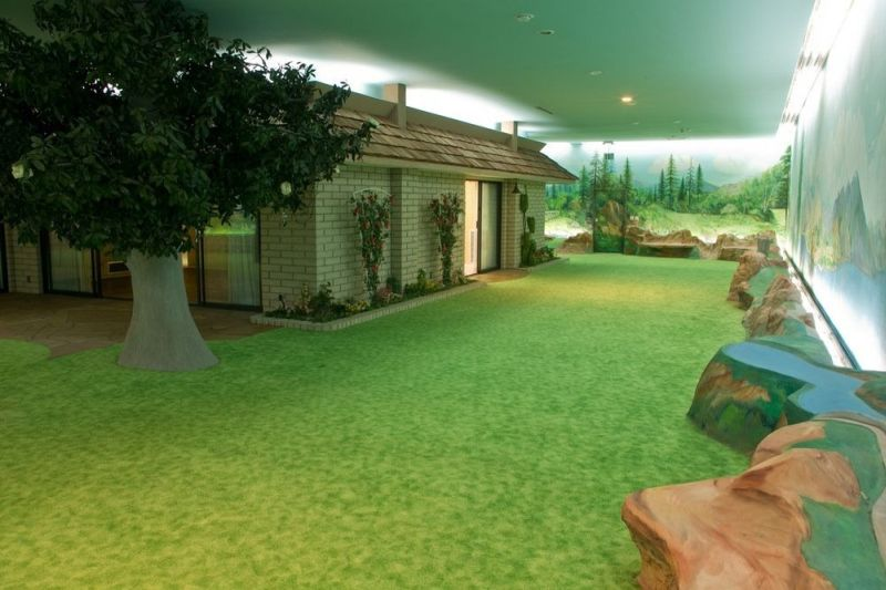 Green carpet to depict like grass