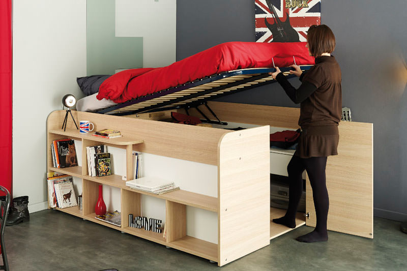 Transforming Bed Walk-In Closet by Parisot