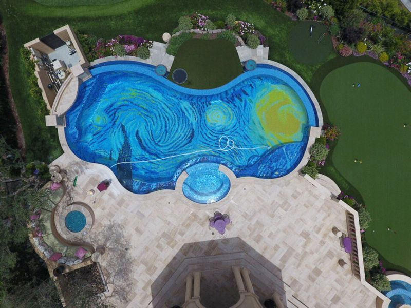 Van Gogh's The Starry Night Swimming Pool