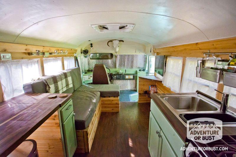 Adventure or Bust school bus conversion
