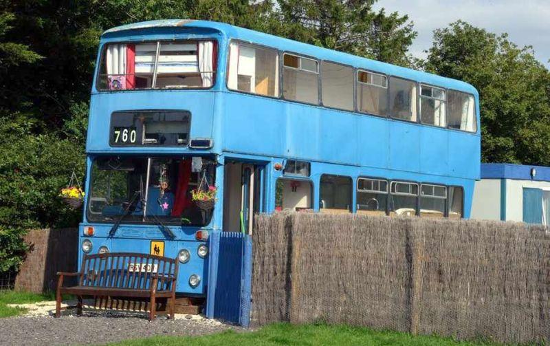 Betsy Blue Double Decker School Bus Home