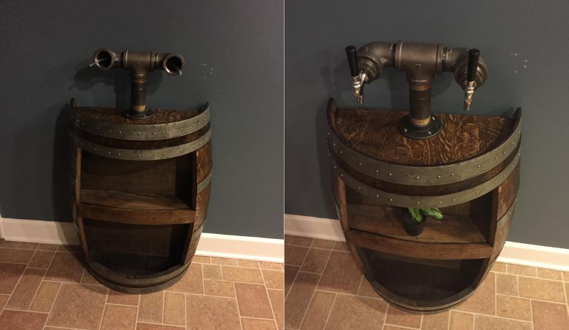 Adding two taps to the barrel dispenser