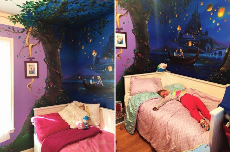Disney's Tangled mural