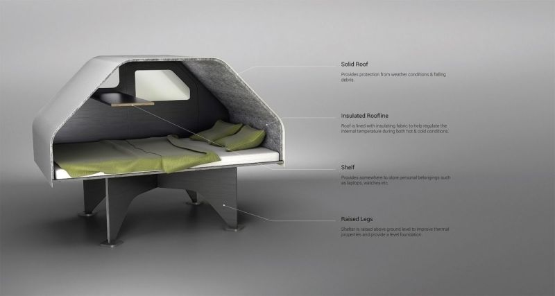 Adequate sleeping space for two adults inside