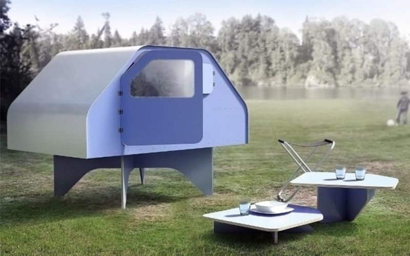 Perfect shelter in a glamping tour