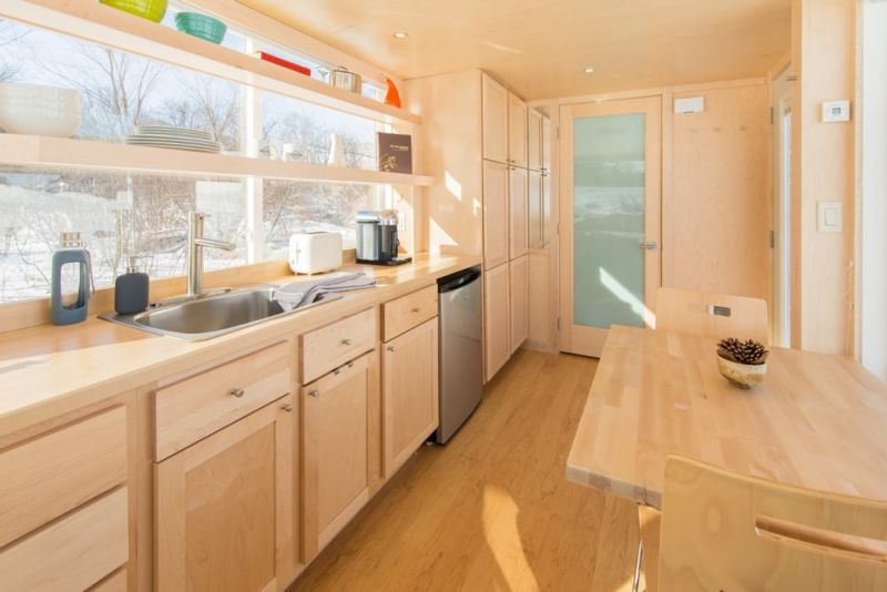 Spacious kitchen equipped with modern amenities