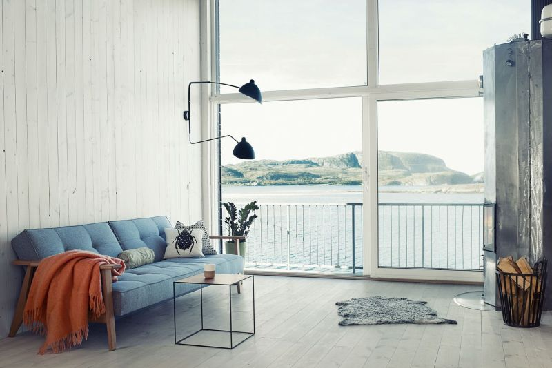 Big glass windows offers magnificent views of sea