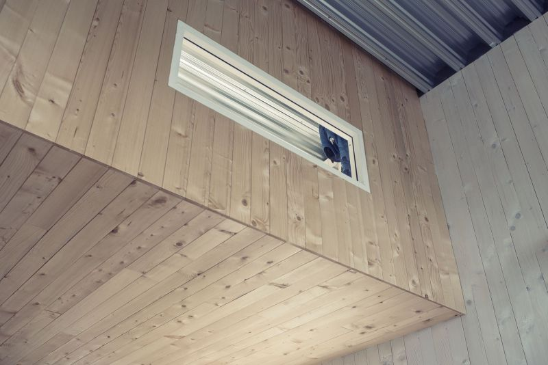 Rustic wooden siiing in exteriors and interiors