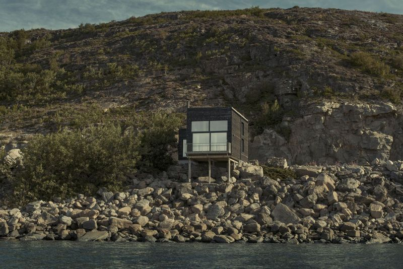 Located on a waterfront location in Norway
