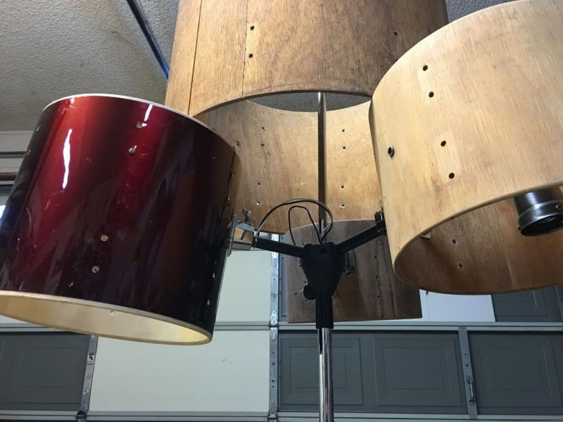 How to make a drum set chandelier at home_1