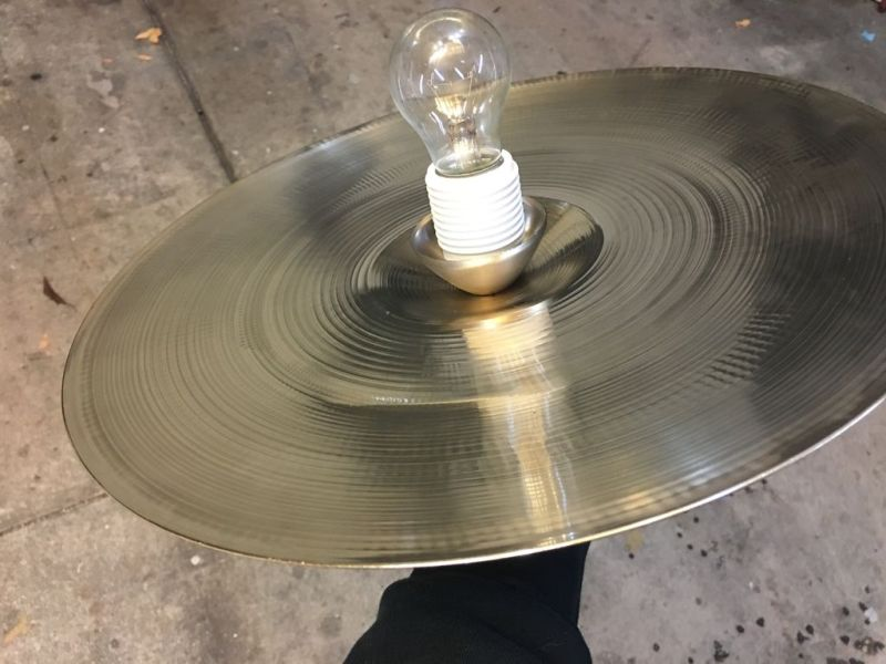 How to make a drum set chandelier at home_13