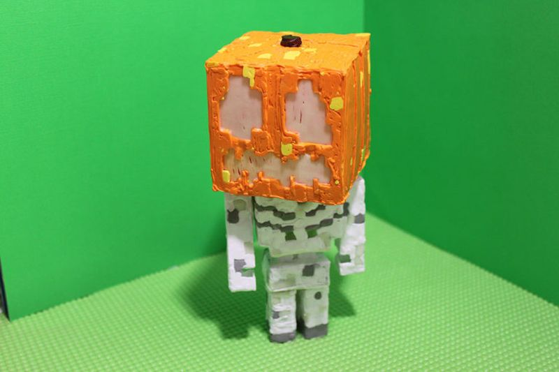 Minecraft Jack-o-lantern Skeleton