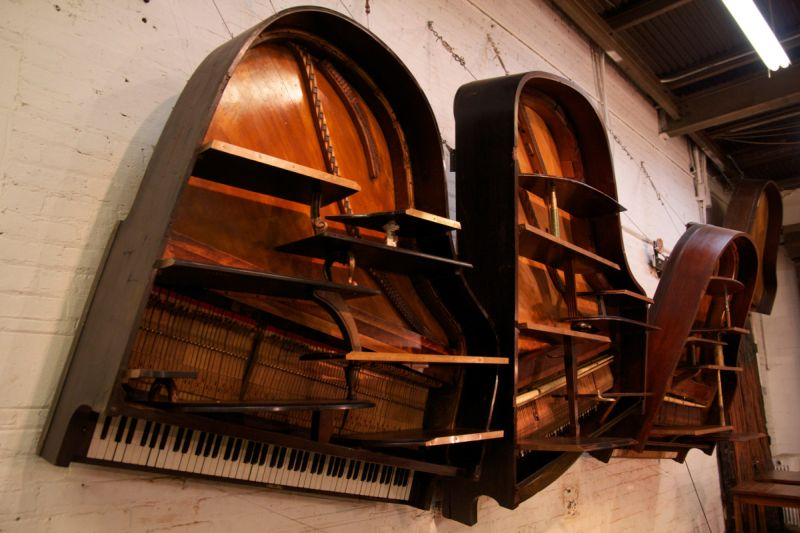 These repurposed old pianos are worthy home décor items for minimalists_15
