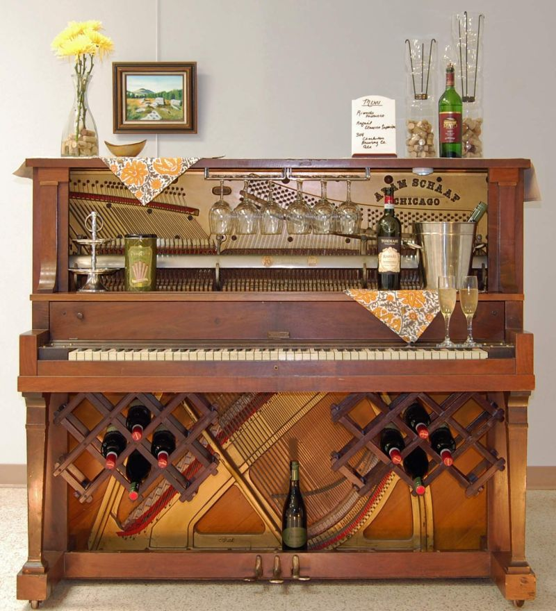 These repurposed old pianos are worthy home décor items for minimalists_9