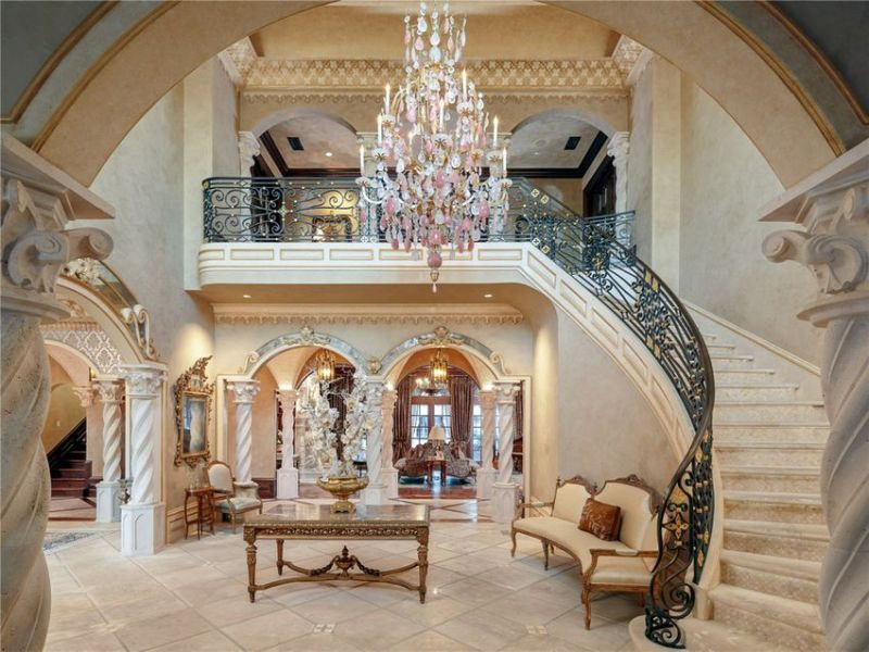 Multiple staircases brings modern feel