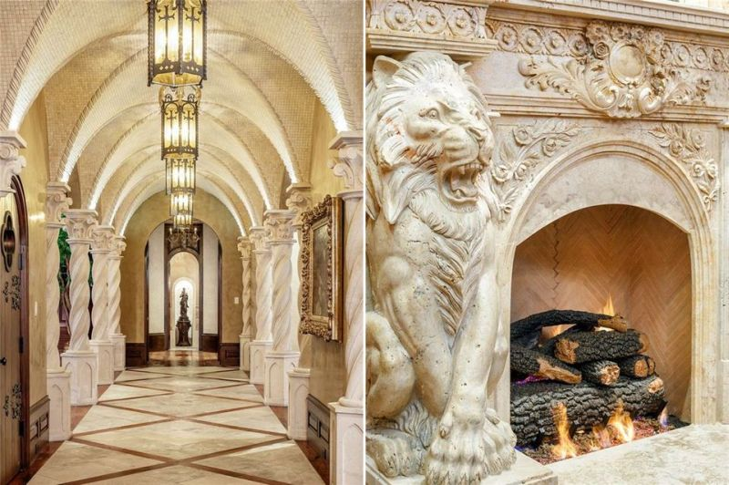 Imposing fireplaces all over the house