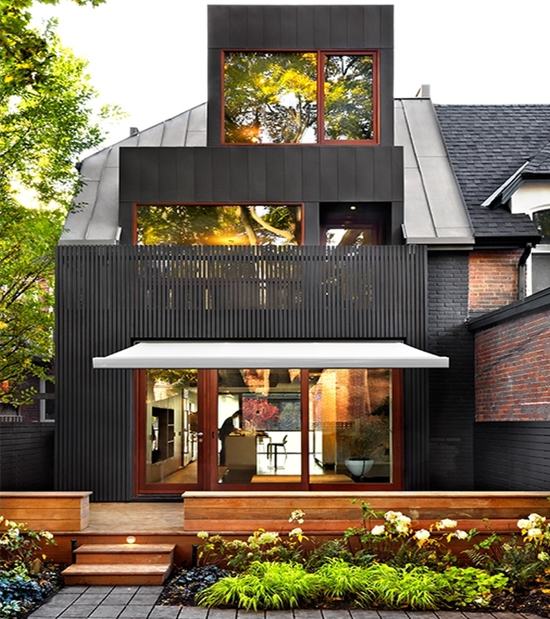Attractive facade is the one of the main attraction of this modern house