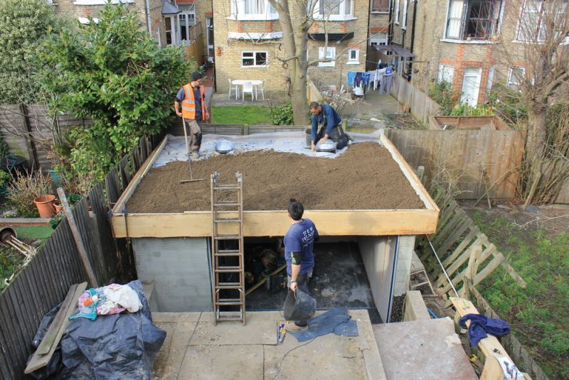 Making the roof garden