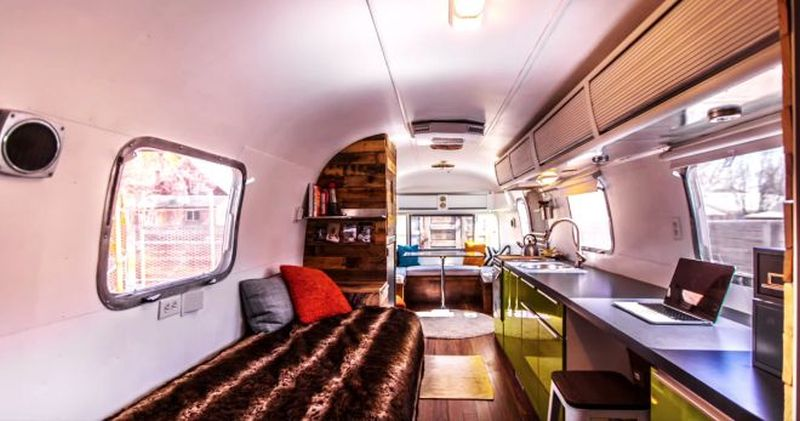 1976 Airstream Trailer Tiny Home