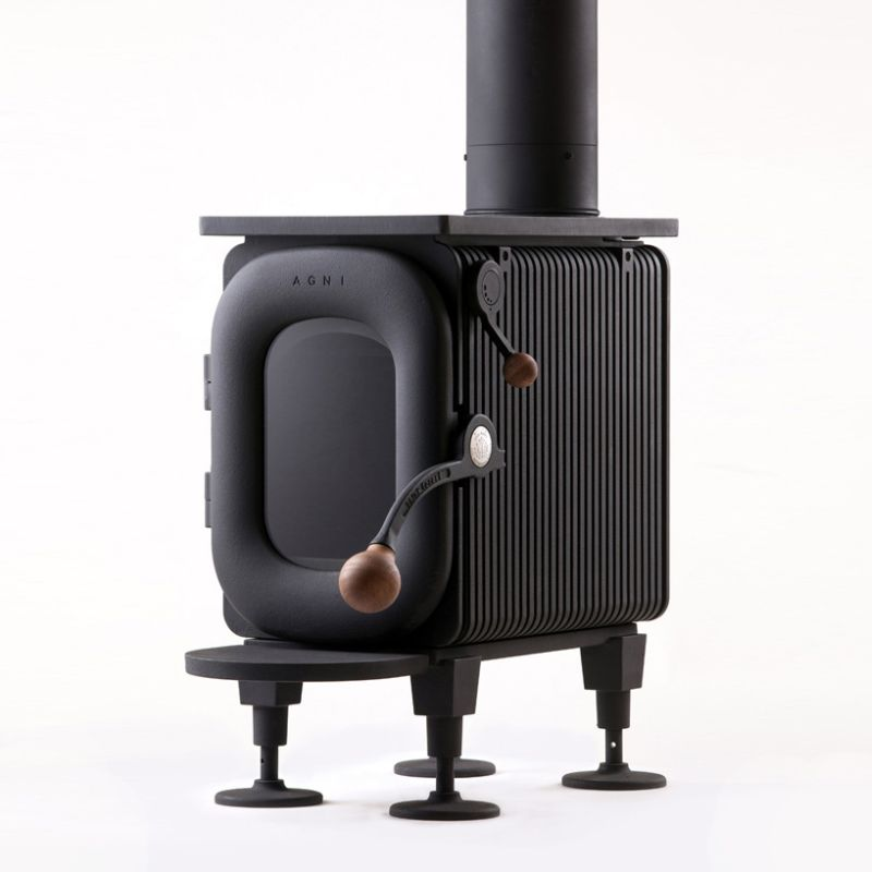 Totally different design from traditional wood-burning stoves
