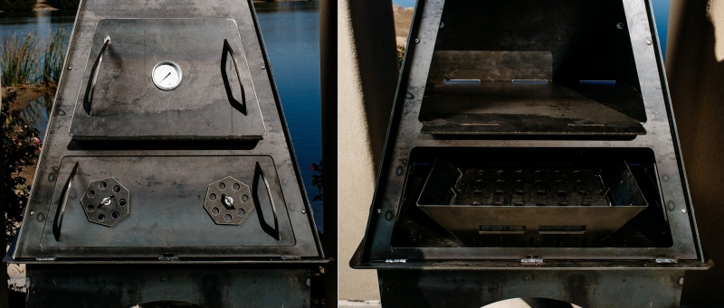 Removable doors of the firepit