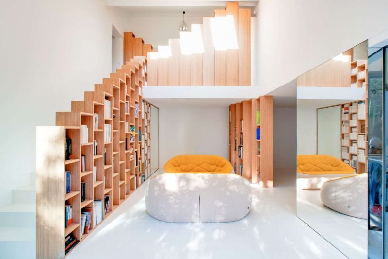 Bookshelf House by Andrea Mosca Creative Studio
