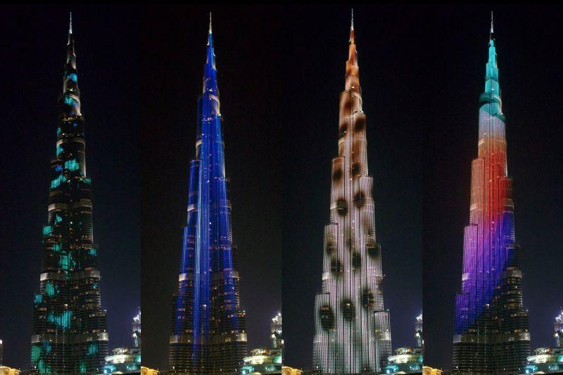 Art installation screened on Burj Khalifa