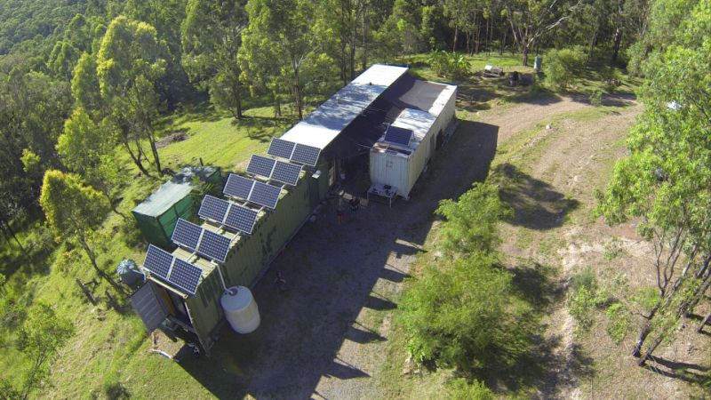 Former RAF engineer turned shipping containers into off-grid home