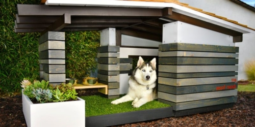 Handcrafted doghouses by Pijuan Design Workshop