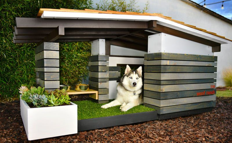 Handcrafted doghouses by Pijuan Design Workshop