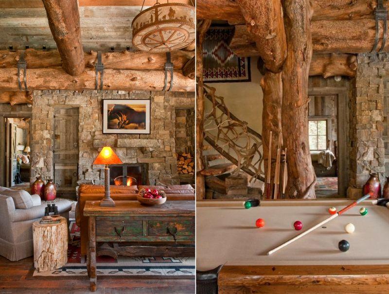 Cozy living area alongside a pool table
