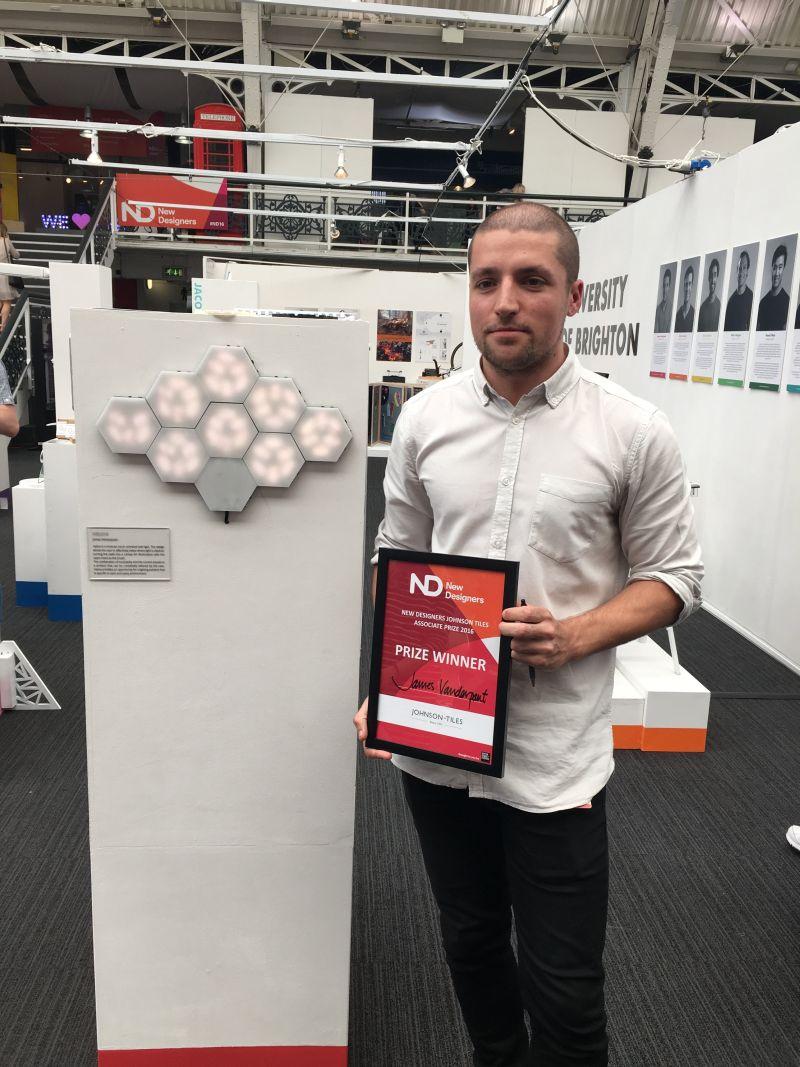 Winner of New Designers Johnson Tiles Associate Prize 2016