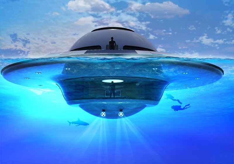 Jet Capsule UFO 2.0 Houseboat