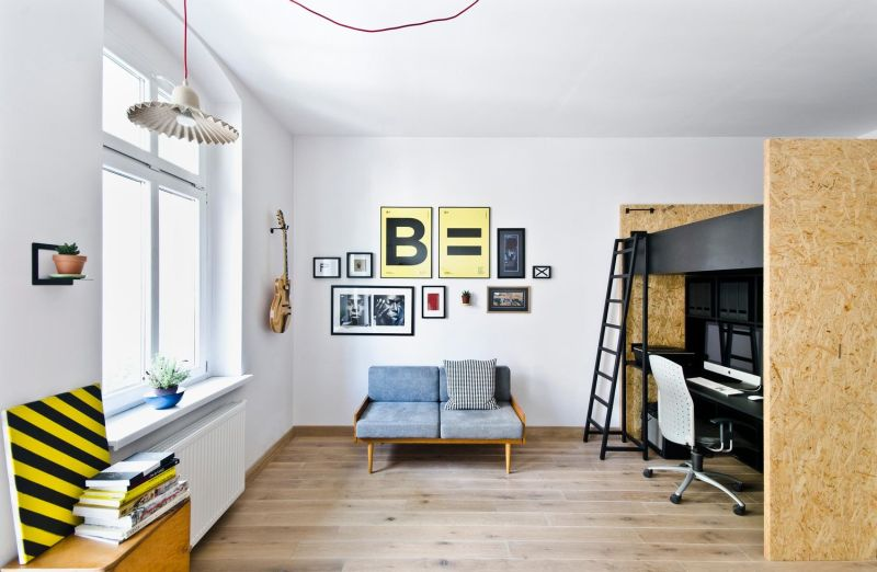 Wooden flooring and bright interiors