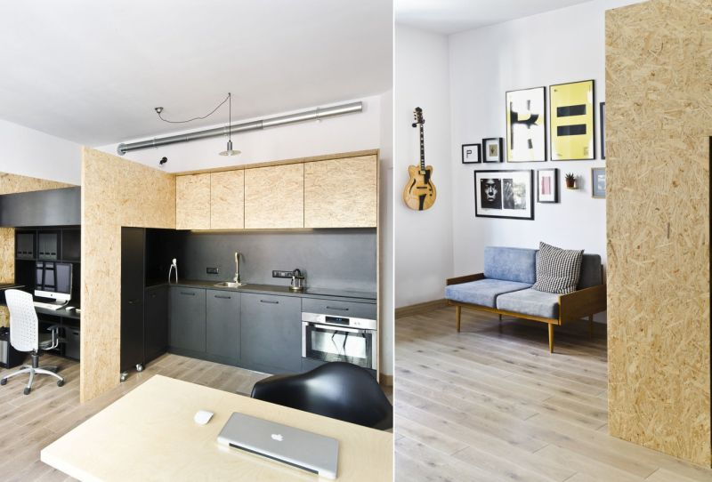 Industrial-style cabinets and furniture