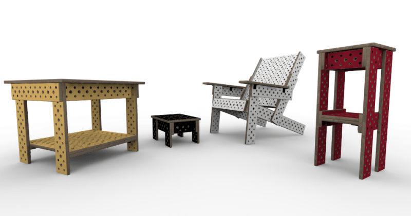 Modular furniture that can be adjusted according to your needs