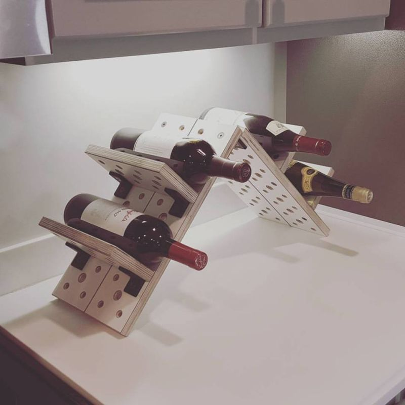 Wine rack can be made from these modular furniture