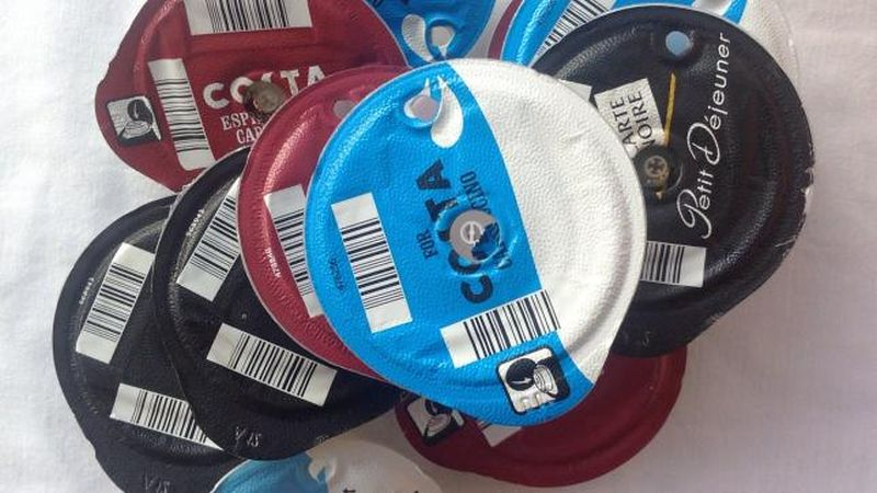 Old coffee pods recycled by TerraCycle