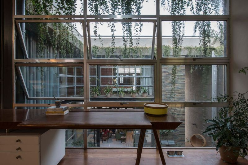 Central courtyard provides enough privacy from neighborhood