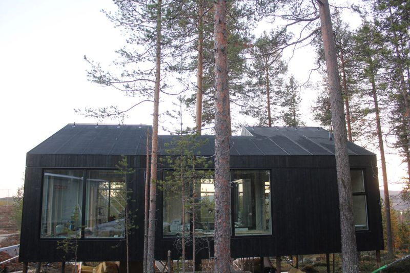 Elevated cabin at Treehotel