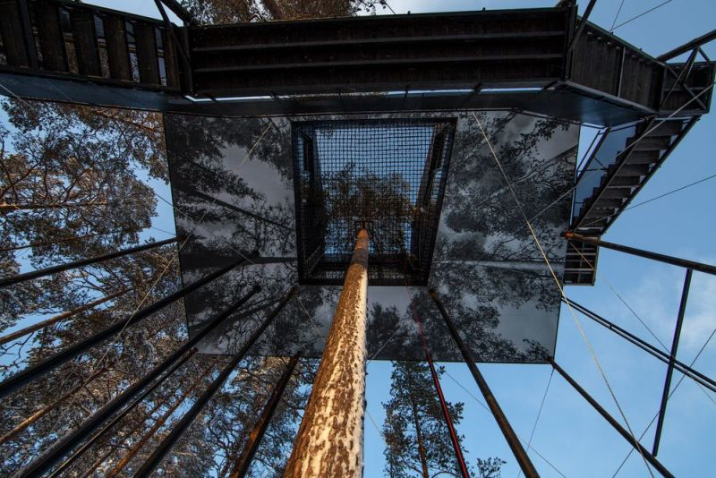 Snohetta builds charred-timber treehouse