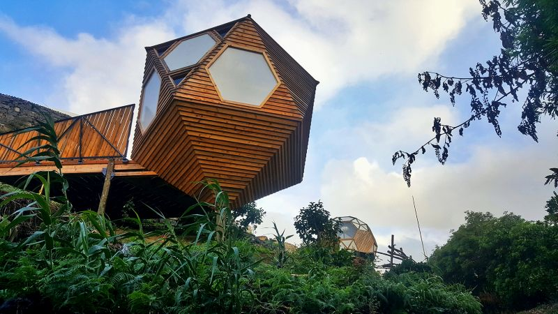 Solar-powered Eco Pods in Azores islands by John-Stenton