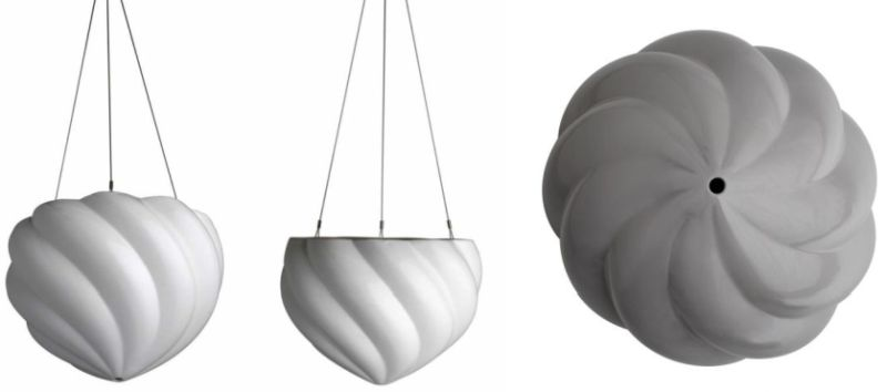 Spiral hanging planters by Angus and Celeste