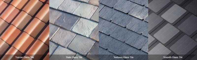 Tesla roof tiles in four attractive styles