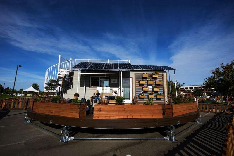 The rEvolve rotating tiny house by Santa Clara University