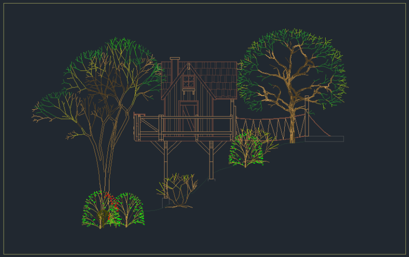 Used AutoCAD for designing the frame work for the treehouse