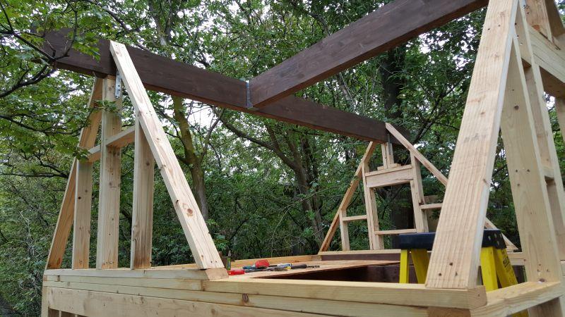 connecting loft joists and ridge beams