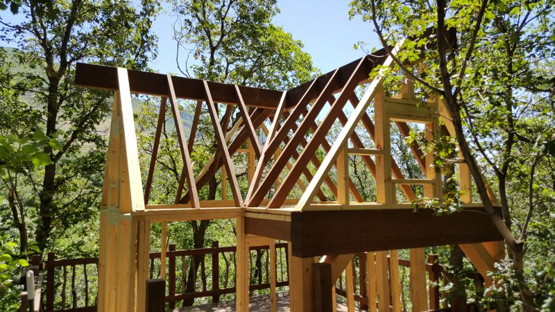 Completion of addition rafters in the roof
