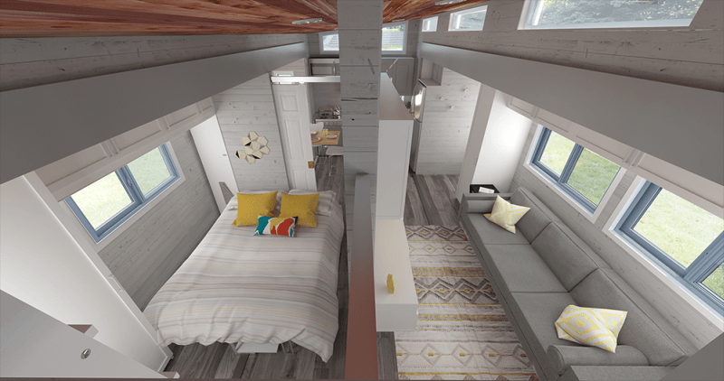 Sufficient storage spaces in living room and the whole loft